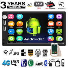 "Android 8.1 7"" 2Din Quad Core GPS Navi WiFi Car Stereo MP5 Player FM Radio USB"