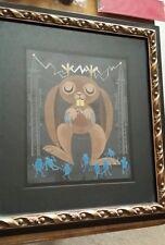 Amanda visell original framed art jackalopes hate robots