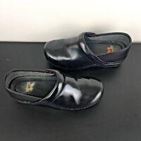 DANSKO XP PRO Nursing Shoes Clogs Womens 8.5-9 EURO 39 Black Leather pre-owned