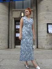 Glamour Damen Kleid Gr. 42 silber blau 70er True VINTAGE 70´s women dress silver