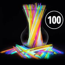 Palos para collares pulseras con luces neón para niños adultos paquete 100