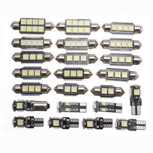 23PCS White LEDT10 5050 Interior Map Dome Trunk License Plate Light Bulbs Kit