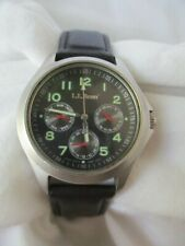 L.L. Bean Men's Water Resistant 100M Wristwatch w/ Day & Date Indicator WORKING!