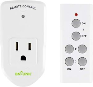 BN LINK Wireless Remote Control Electrical Outlet Switch for Appliance 1 Pack