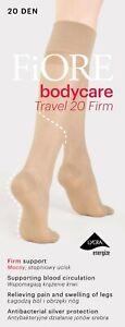 FIORE Body Care Travel Luxury 20 Denier Super Fine Knee High Socks - 2 Colours