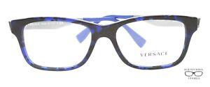 Versace VE3245 5237 BLUE HAVANA  Eyeglasses New Authentic 55