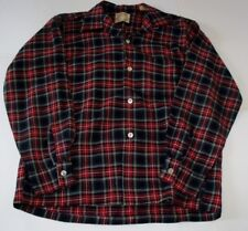 Vintage Arrow Black Stewart Long Sleeve Shirt Top Button Loop Sz 15-15 1/2 USA