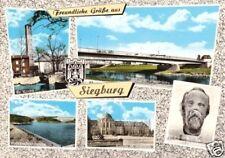 AK, Siegburg, fünf Abb., u.a. neue Siegbrücke, ca. 1970