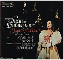 Donizetti: Lucia Di Lammermoor / Sutherland, Siepi, Merrill, Pritchard  LP Vinyl