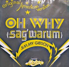 ++JIMMY GIBSON oh why/swing love SP 1978 MOTORS RARE VG++