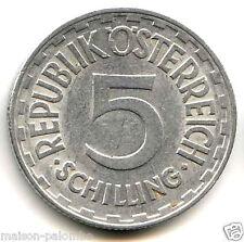 AUTRICHE REPUBLIQUE 5 SCHILLING 1957 RARE & QUALITE!!!!
