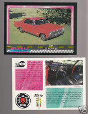 1966 CHEVROLET NOVA SS L79 327ci/350hp V8 Muscle Car Photo 1991 TRADING CARD