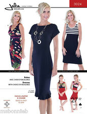 Jalie Empire-Waist Knit Dress w/3 Bodice Options Quick Easy Sewing Pattern 3024