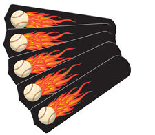 """New HOT FLAMES BASEBALL SPORTS 52"""" Ceiling Fan BLADES ONLY"""