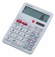 Sharp EL-T100W Desk Solar Calculator and 'Brain Trainer' Game