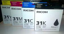 4er Ricoh GC-31K GC-31C GC-31M GC-31Y f. GXe7700 GXe5550n Satz Set | G-L-17