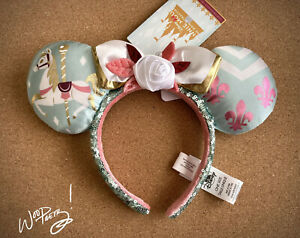 2020 Disney Minnie Mouse Main Attraction Limited King Arthur Carrousel Ears NWT