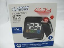 TESTED W85923 La Crosse Technology Projection Alarm Clock w/ Indoor Temperature