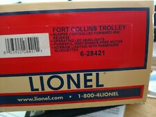 Lionel #2035020 FORT COLLINS MUNICIPAL  OPERATING TROLLEY NEW 6-28421