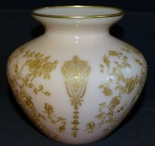 "Cambridge USA Rose Point Crown Tuscan Vase 4 5/8"" -Gold Encrusted"