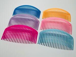 Pack of 4 * 11 cm Long Hair Combs Hair Slides Hair Comb Plastic (23 teeth)
