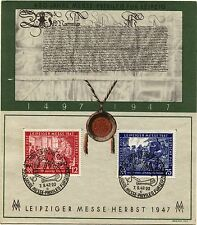 GERMANY Deutsche Post Sc# 580-581 First Day of Issue 450 Years of LEIPZIG 1947
