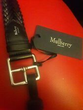 NWT 350$ Mulberry buckle braided men's belt .Size S / 70-75 cm .Made in Italy.