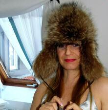 PELZMANTEL Pelzmütze RACOON FOX FUR Coat FOURRURE Cappello PELLICCIA VISONE Päls
