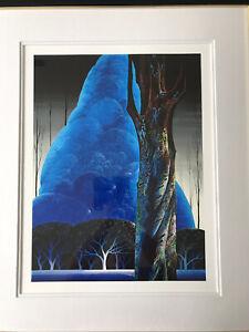 "Eyvind Earle ""Blue Nocturne"" Serigraph Signed & Numbered Magnificent Colors"