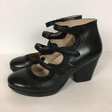 Dansko Marlene Womens 11.5 Black Burnished Calf Mary Jane Heels Comfort Boots