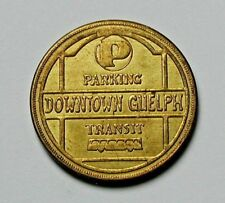 Guelph Ontario CANADA Parking or Transit Token - 25 Cents Off - AU+ toned-lustre