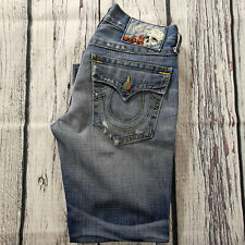 Men's True Religion Jeans 33 x 29 (tag 32) Ricky Straight Leg in Blue RRP £200