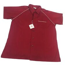 New Vtg King Louie Creation Bowling Shirt Dead Stock Maroon Xl Nos Crafted Pride