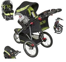 Green Jogging Stroller Carseat Combo Baby Trend Run Travel Carriage Black
