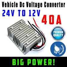 Vehicle DC Voltage Converter Step down 24V to 12V 40A Car Truck Caravan Inverter