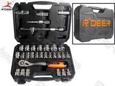 """R'Deer 32PCS 12PT 6PT 1/2""""DR SOCKET SET 8-32MM (RTH-32A)"""