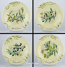 RARE! Complete Set of 4 Dinner Plates, SUPERB! 222 Fifth, Palermo