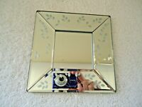 """Ikea """" NOS """" Square Floral Themed Wall Hanging Mirror """" BEAUTIFUL ITEM """""""