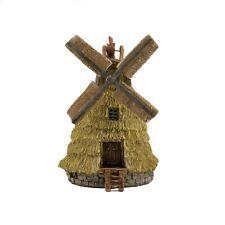 Miniature Straw Look Windmill To 4911 Miniature Fairy Garden