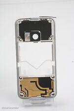 ORIGINALE Nokia n81 chassis mezzi mezzi ARGENTO COVER SILVER CHASSIS GUSCIO BES...