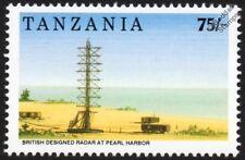 La Segunda Guerra Mundial Pearl Harbor-sello de radar de vigilancia de aire de larga distancia (1992 Tanzania)