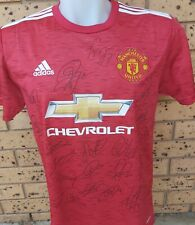Manchester United Signed Team Jersey 2020/2021+Coa