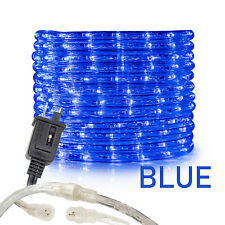 Blue LED Rope Lights 10' 25 50 100 150ft, Connectable Indoor Outdoor Waterproof