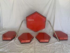 Red Vintage Simmons SDS SDS-8 SDS-9 SDSV Drum Trigger Pads For Electronic Drums