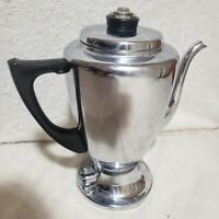 Vintage Mirro-Matic Aluminum 8 Cup Electric Coffee Percolator 112M USA
