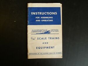"""Instructions for Assembling/Operating,3/16"""" Scale, 1949, Clean & Complete (D14)"""