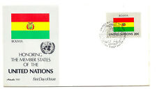 United Nations #352 Flag Series 1981, Bolivia, Artmaster, Fdc