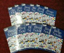 Bingo Game Single Ticket Card Flyer Pad 12 x Books 100 Sheet Security Coded Fun