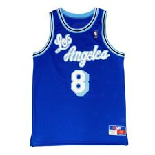 Custom Rare NBA Los Angeles Lakers #8 Bryant Rookie Blue Script Jersey. Size 44