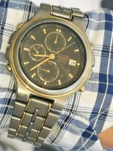 Vintage 6870-H09236 TA Titanium Calendar Perpetu Citizen Collection Men´s Watch